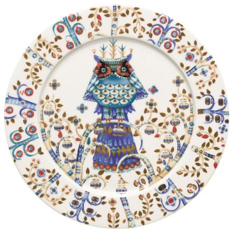 Тарелка белая с рисунком 27 см Taika, iittala - 17150