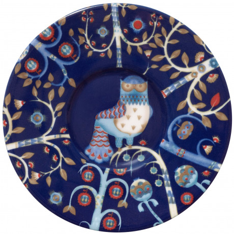 Блюдце для эспрессо синее с рисунком 11см Taika, iittala - 17144