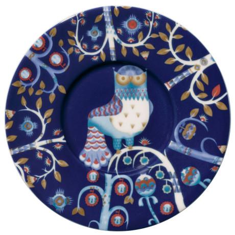 Блюдце синее с рисунком 15 см Taika, iittala - 19299
