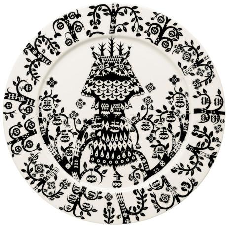 Тарелка с черным рисунком 27 см Taika, iittala - 18732