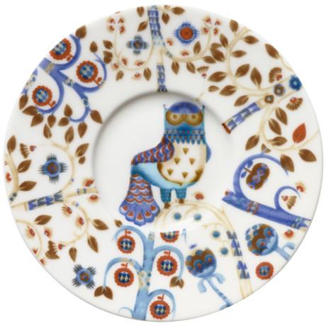 Блюдце белое с рисунком 11см Taika, iittala - 41733