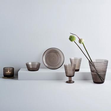 Тарелка стеклянная коричневая 17см Kastehelmi, iittala - 50912