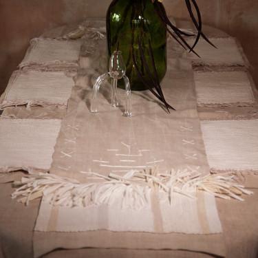"""Ранер с белой вышивкой """"White Soul"""" 320х36см, Litkovskaya - Q6040"""