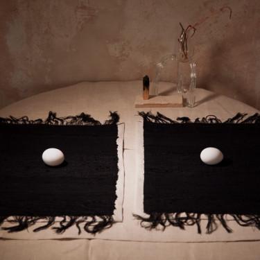 """Набор салфеток с черной вышивкой """"Deep Soul"""" 60х34см (2шт.), Litkovskaya - Q6046"""