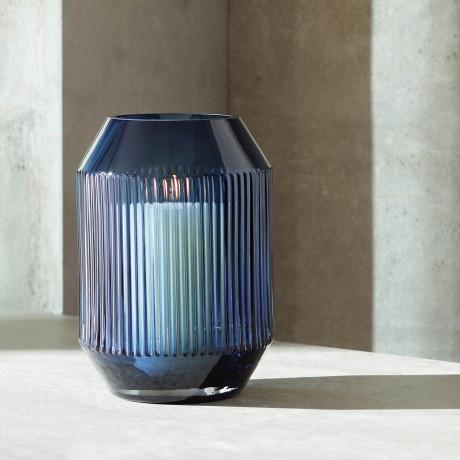 Ваза серо-синяя 26см Rotunda, LSA International - Q5001