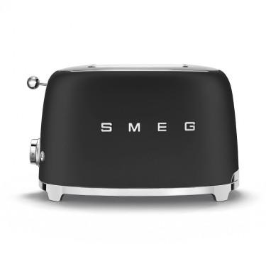 Тостер электрический на 2 тоста черный матовый, SMEG