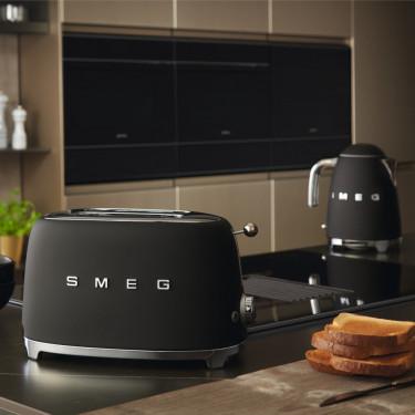 Тостер электрический на 2 тоста черный матовый, SMEG - Q4925