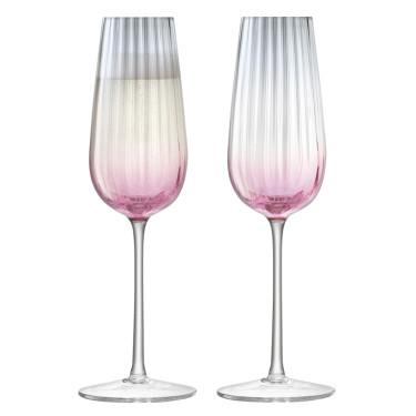 Набор флют-бокалов для шампанского 250мл (2шт) Dusk розовый, LSA international - Q6316