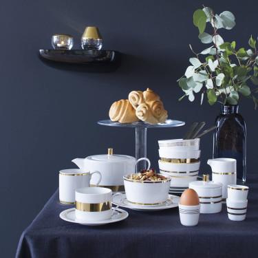 Набор из 4-х чашек для чая 250 мл и 4-х блюдец Deco, LSA international - 42553