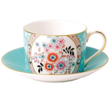 "Чашка с блюдцем ""Camellia"" Wonderlust, Wedgwood"