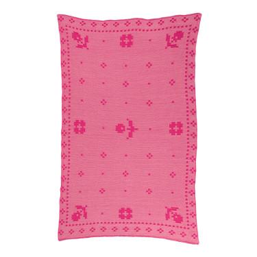 Плед из хлопка красный/розовый 135x190см, Edere editions - Q7725