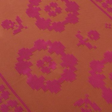 Плед из хлопка рыжий/фуксия 135x190см, Edere editions - Q7726