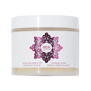 Скраб для тела сахарный с маслом марокканской розы Moroccan Rose Otto 330мл, REN - Q9360