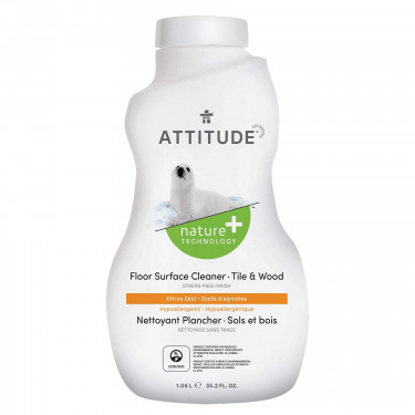 Средство для мытья пола (плитка и дерево) 1005 мл, Attitude