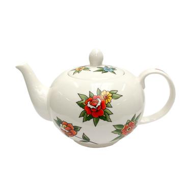 "Чайник ""Tattoo"" белый 1100 мл, Pols potten - Q4651"