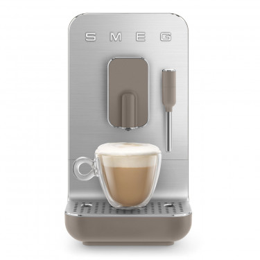 Кофемашина автоматическая с капучинатором стиль 50-х тауп, SMEG