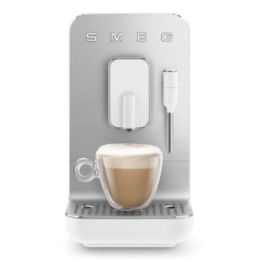 Кофемашина автоматическая с капучинатором стиль 50-х белая, SMEG