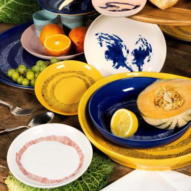 Миска L голубовато-белая в полоску Feast by Ottolenghi, Serax - Q8817
