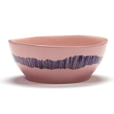 Миска L розово-голубая в полоску Feast by Ottolenghi, Serax - Q8818