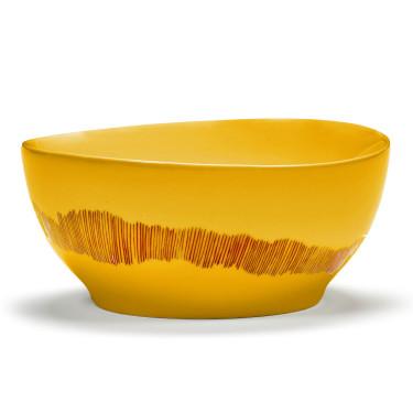 Миска S желто-красная в полоску Feast by Ottolenghi, Serax - Q8816