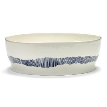 Миска для салата бело-голубая в полоску Feast by Ottolenghi, Serax - Q8820