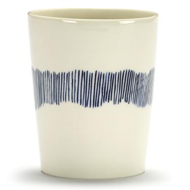Чашка для чая 330 мл бело-голубая в полоску Feast by Ottolenghi, Serax - Q8822