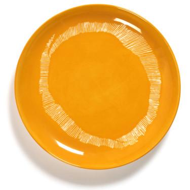 Тарелка S желто-белая в полоску Feast by Ottolenghi, Serax - Q8802