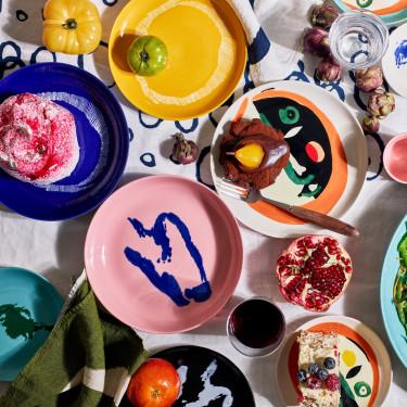 Тарелка M розово-голубая Feast by Ottolenghi, Serax - Q8806