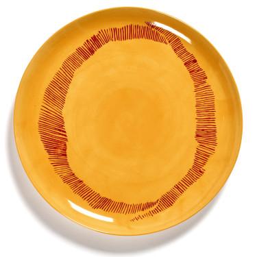 Тарелка L желто-красная в полоску Feast by Ottolenghi, Serax - Q8810
