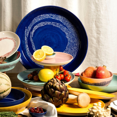 Тарелка L голубовато-зеленая Feast by Ottolenghi, Serax - Q8811