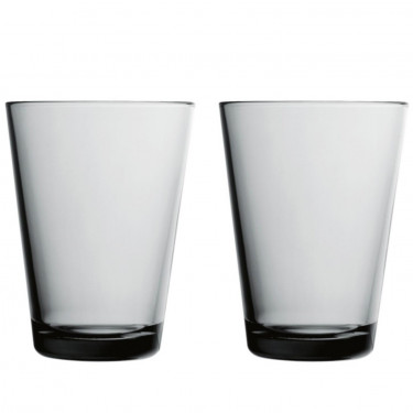 Набор стаканов стеклянных сине-серых Kartio (2 шт. в уп.) 400 мл, iittala