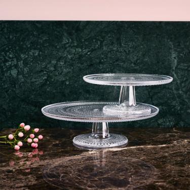 Тортовница стеклянная прозрачная 31,5 см Kastehelmi, iittala - 14997