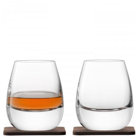 Набор из 2-х бокалов 250мл з с подставками Whisky, LSA international - 24253