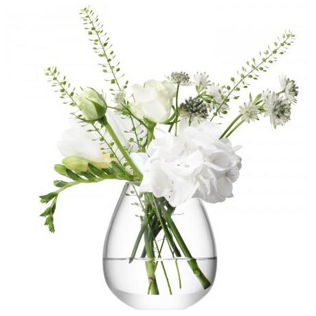 Ваза для цветов прозрачная 9,5см Ø8,6см Flower, LSA international - 24212