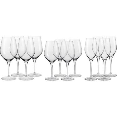 Набор бокалов для красного, белого вина и шампанского (8 + 4 шт) Authentis, Spiegelau - 15481