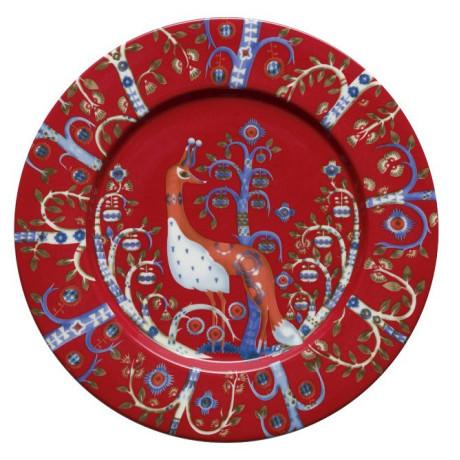 Тарелка красная с рисунком 22см Taika, iittala - 22589