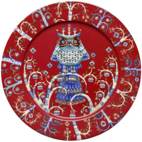 Тарелка красная с рисунком 27см Taika, Iittala - 18205