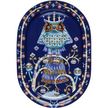 Блюдо для сервировки синее с рисунком 41см Taika, iittala - 16342