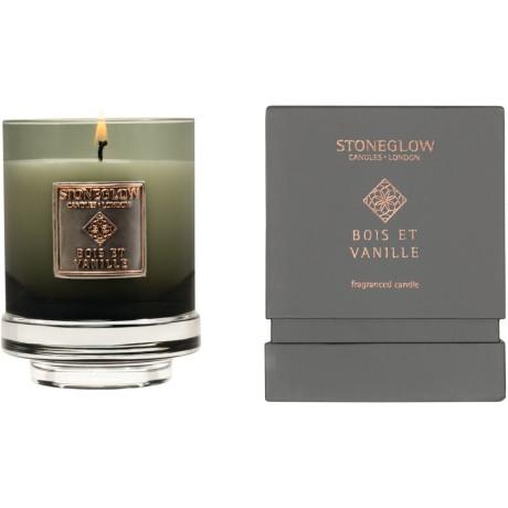 Свеча ароматическая Древесина Ваниль (тумблер) 11x8,5см Metallique, Stoneglow - 30837