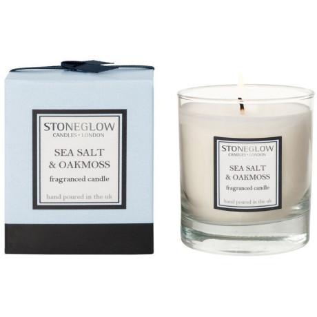 Свеча ароматическая Морская соль Дубовый мох (тумблер) 8x8см Modern Classics, Stoneglow - 30847