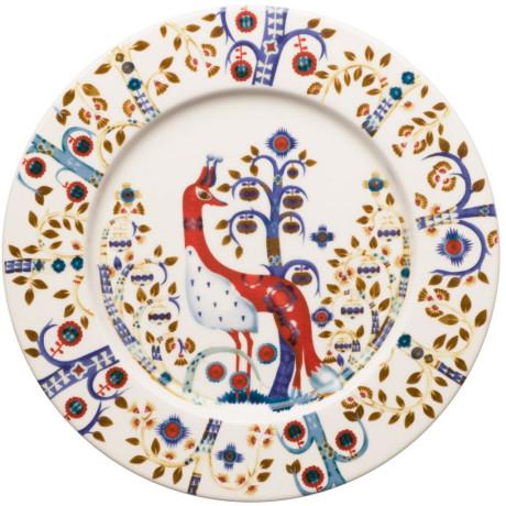 Тарелка белая с рисунком 22см Taika - 17149