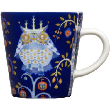 Чашка для эспрессо синяя с рисунком 100мл Taika, iittala - 17152