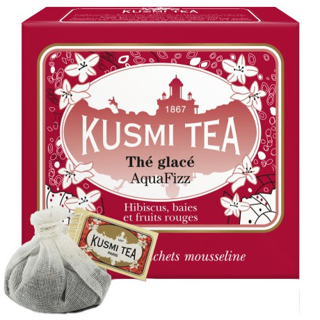 Чай фруктовый Аква Физ пакет. 10х9г, Kusmi Tea - 25157