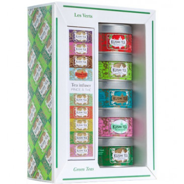 Набор зеленого чая с ситечком 5х25г, Kusmi Tea - 21095