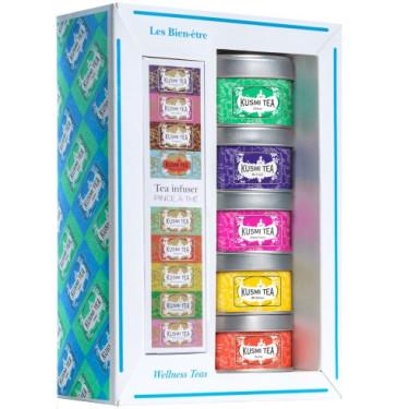 Набор чая Велнес с ситечком 3х25г + 2х20г, Kusmi Tea - 21096
