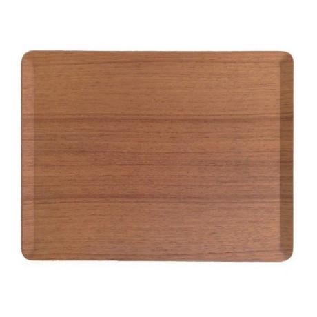 Поднос прямоугольный коричневый деревянный 36x28см Place Mat, Kinto - 30978