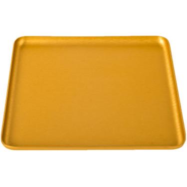 Поднос квадратный золотистый 16x16см, Kaymet
