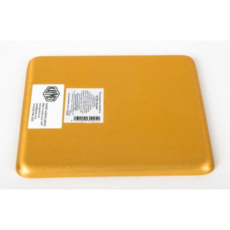 Поднос квадратный золотистый 16x16см, Kaymet - 31025