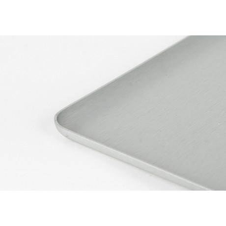 Поднос квадратный серебристый 16x16см, Kaymet - 31027