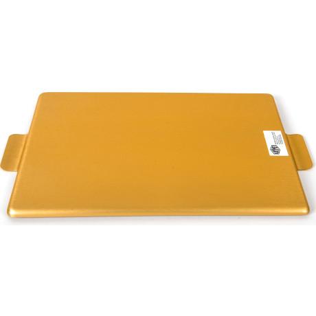 Поднос золотистый 32x25см, Kaymet - 31015
